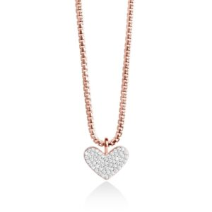 Forever Joma Sterling Rose Gold Heart Necklace