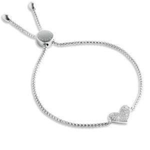 Forever Joma Sterling Silver Heart Bracelet