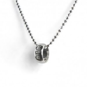Tales from the Earth - sterling Silver 'mum' word circle necklace
