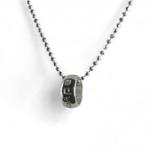 Tales from the Earth - sterling Silver 'adventure' word circle necklace