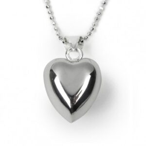 Tales from the Earth - sterling Silver chiming heart necklace Silver Plated