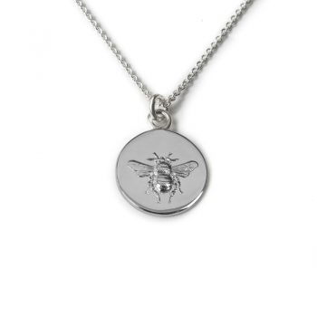 Tales from the Earth - sterling Silver busy bee necklace