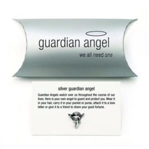 Tales from the earth - silver guardian angel pin charm