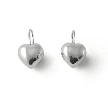 Tales from the Earth - sterling silver love heart hook earrings