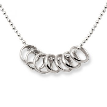 Tales from the Earth - sterling Silver lucky seven rings necklace