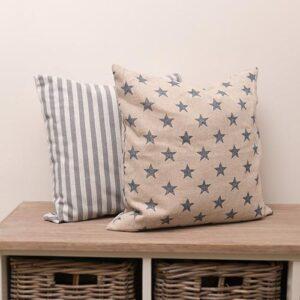 Mutts&Hounds - 'Navy Star Print Cushion'