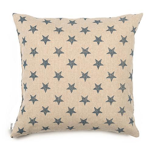 Mutts&Hounds - 'Navy Star Print Cushion'