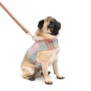 Mutts&Hounds - 'Macaroon Check Tweed Harness' Small