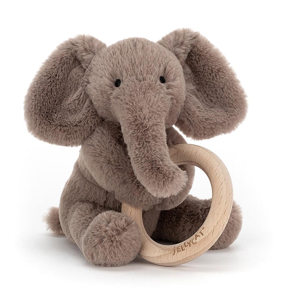 Jelly Cat Shooshu Elephant Wooden Ring Toy