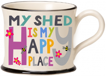 moorland pottery - my shed is my happy place mug