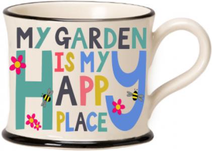 moorland pottery - my garden is my happy place mug