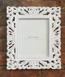 "Retreat White Handmade Frame 8""x 10"""