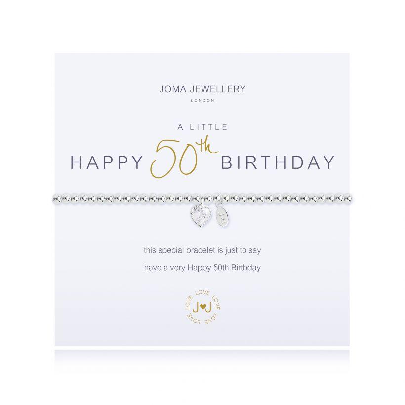 Joma- A Little 'Happy 50th Birthday' Bracelet