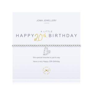 Joma- A Little 'Happy 20th Birthday' Bracelet