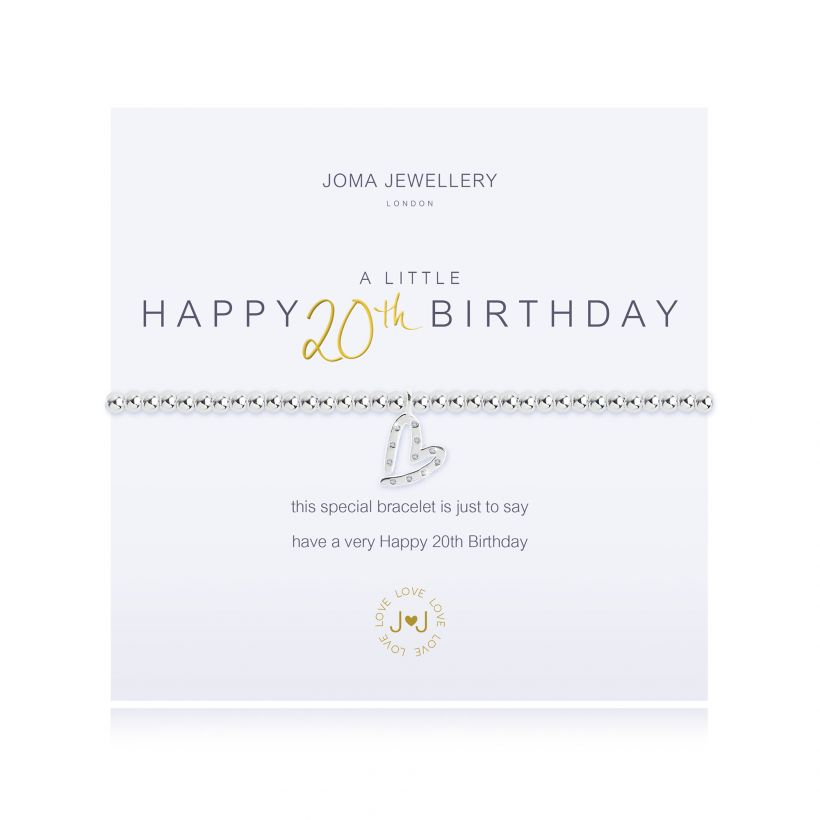 Joma- A Little 'Happy 20th Birthday' Bracelet