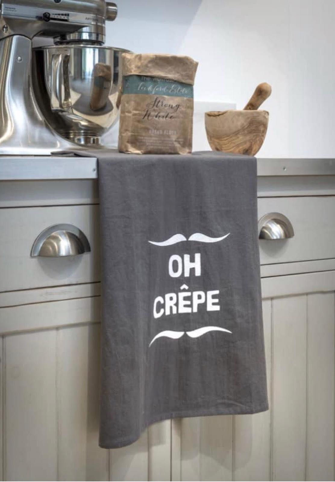 Retreat Home Grey Oh Crepe Tea Towel