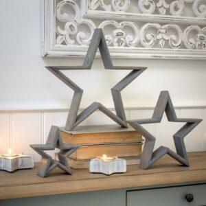 Retreat Grey Mantelpiece Star