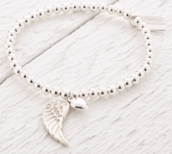 Lucy Bradshaw Sterling Silver Parisa Silver Angel Wing Bracelet