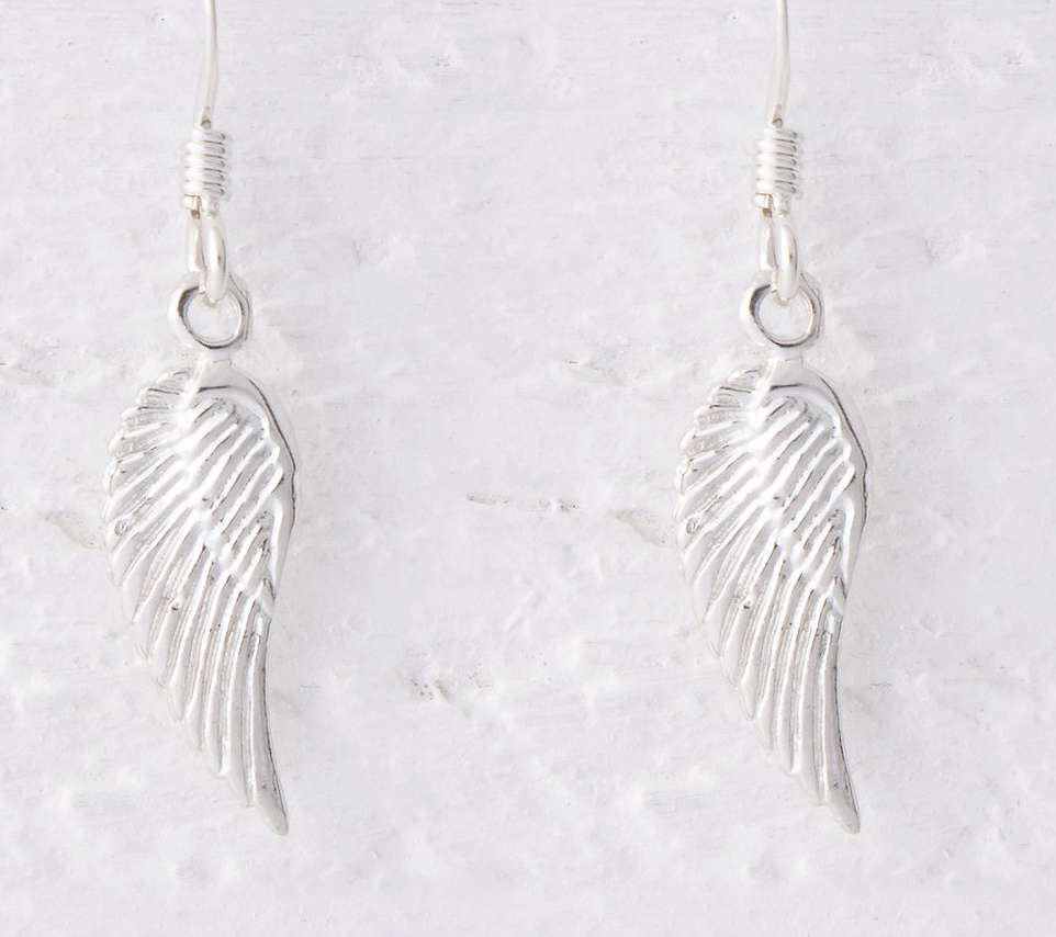 Lucy Bradshaw Lailah Small Angel Wing Earrings