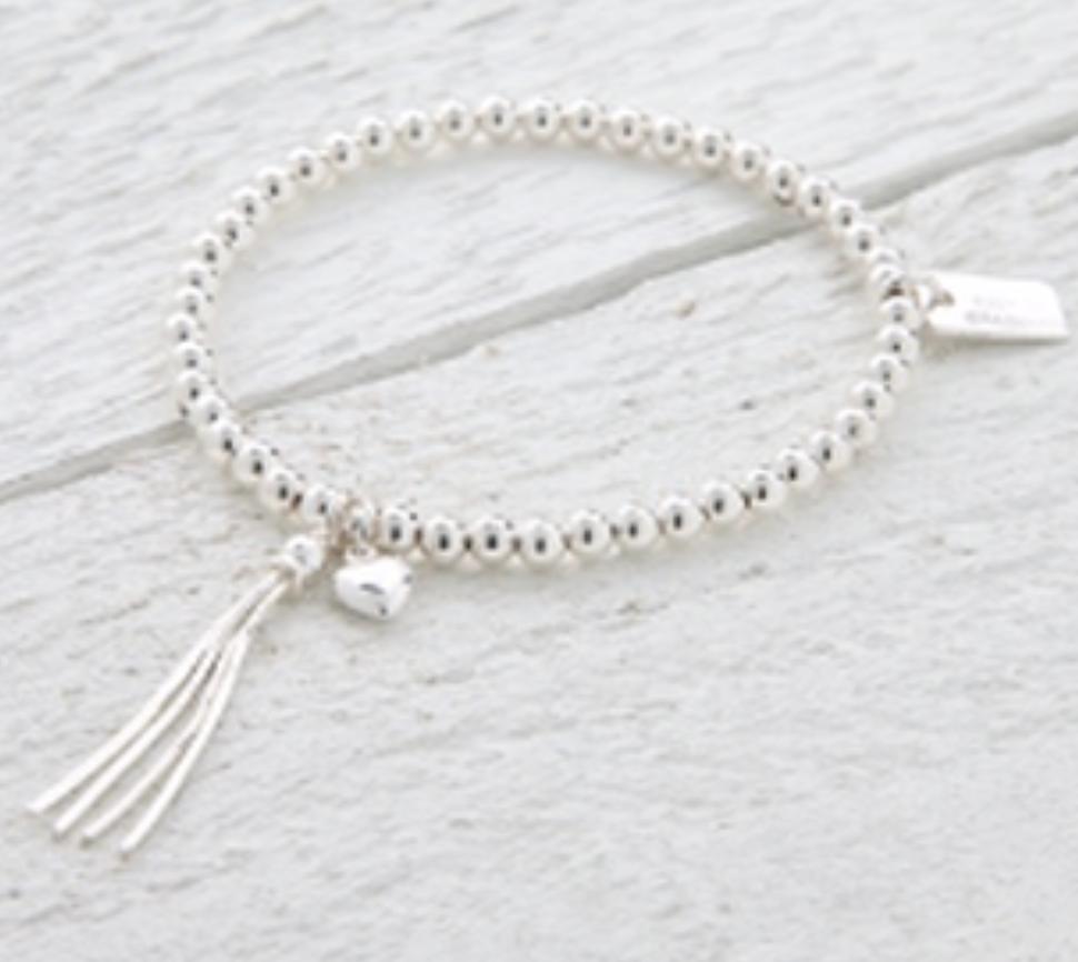 Lucy Bradshaw Sterling Silver Chloe Silver Heart Bracelet