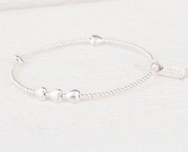 Lucy Bradshaw Sterling Silver Isabella Heart Bracelet