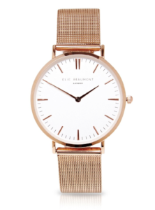 Elie Beaumont-Oxford Large Mesh Rosegold Watch