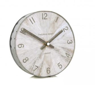 Thomas Kent Clocks | Wharf Pickled Oak Mantel Clock