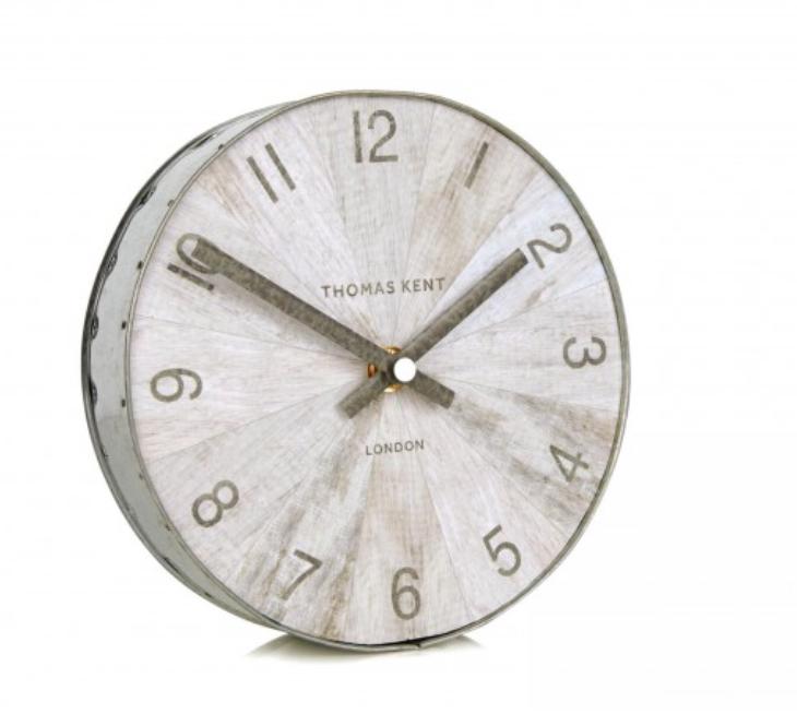 Thomas Kent Clocks   Wharf Pickled Oak Mantel Clock