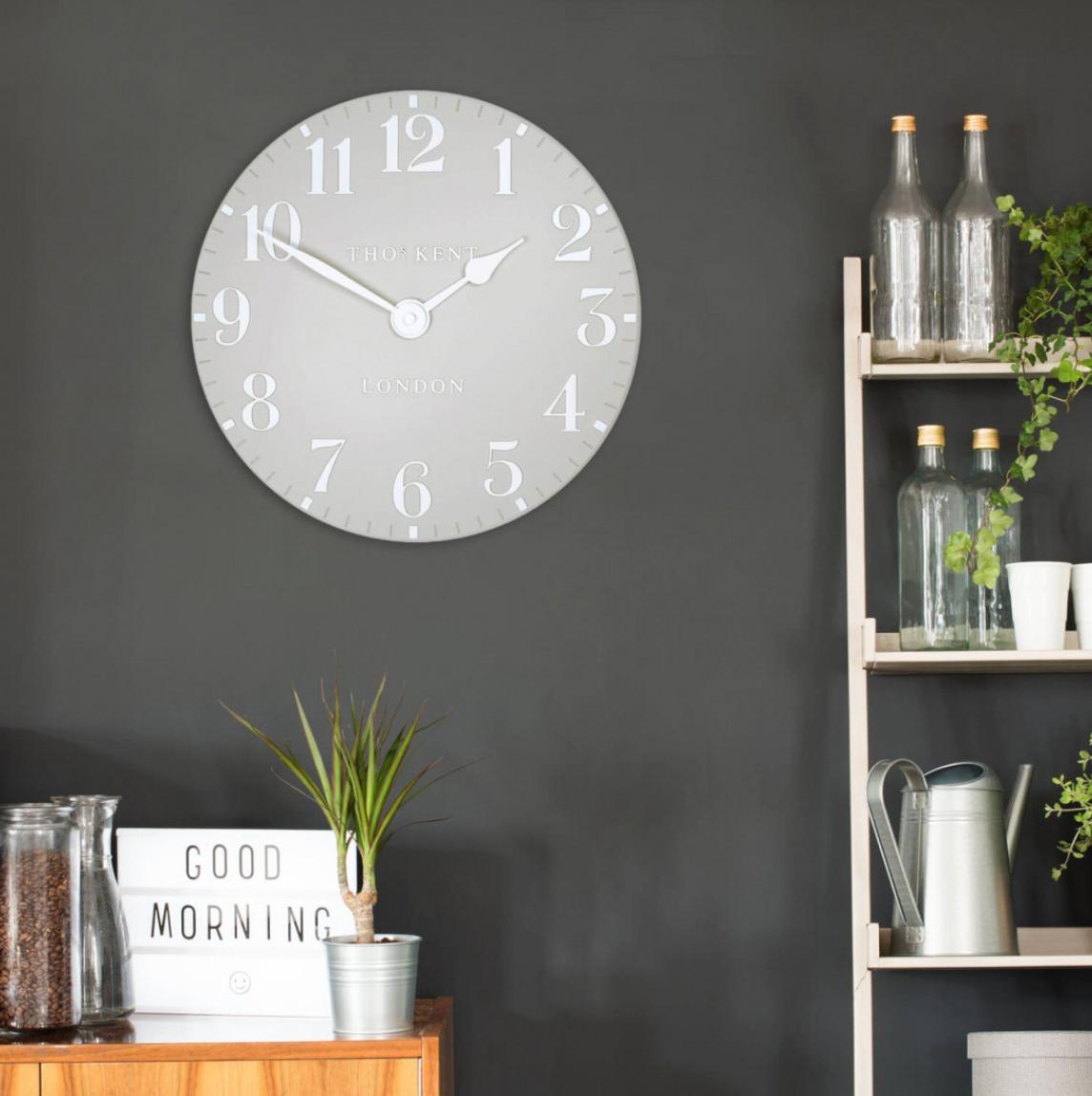 Thomas Kent Clocks   Arabic Dove Grey Small Wall Clock