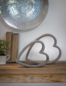 Retreat Mantelpiece Sleeping Heart Grey Small