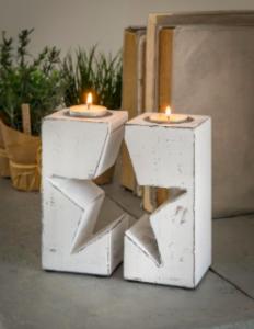 Retreat Broken Star T-Light Holder White