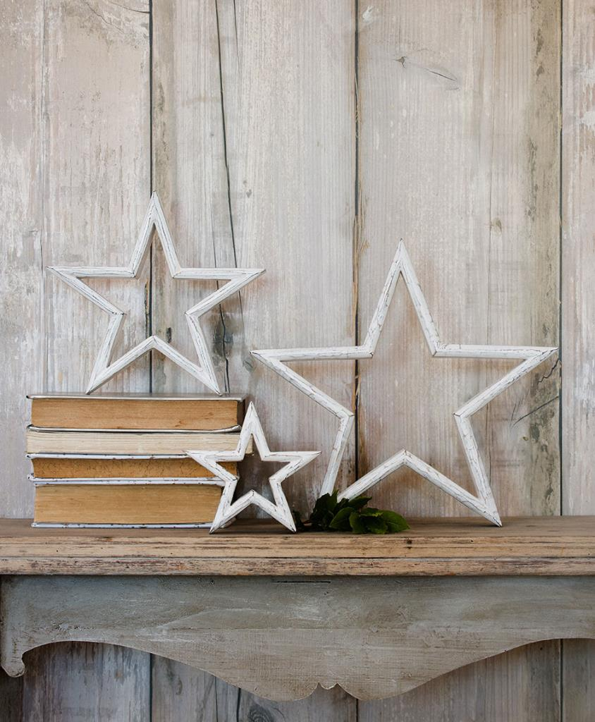 Retreat White Mantelpiece Star Small
