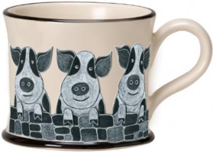 moorland pottery - pig mug