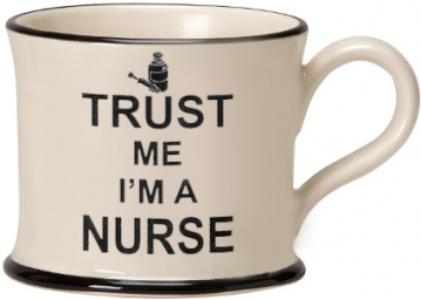 moorland pottery - trust me I'm a nurse mug