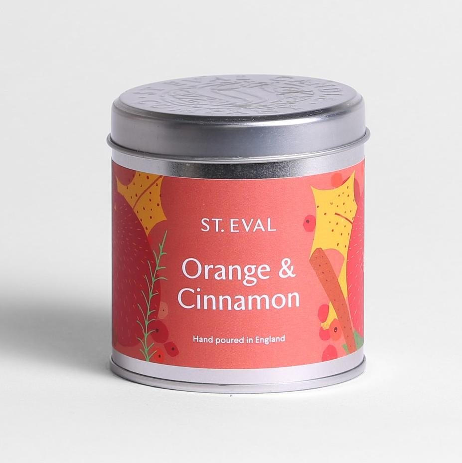 Orange & Cinnamon Scented Tin