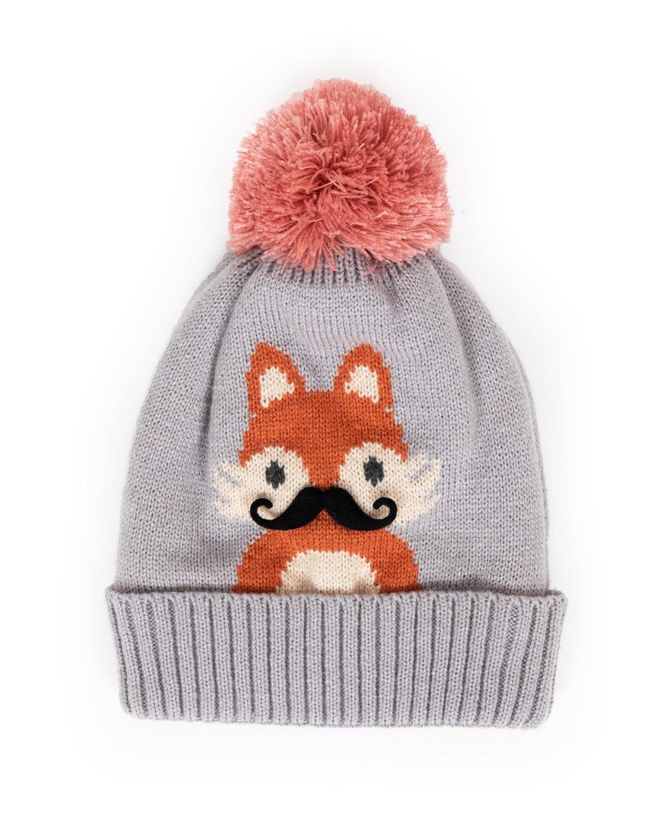 Powder - Slate Cosy Fox Hat