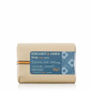 Bath House - Bergamot & Amber Soap Bar 150g