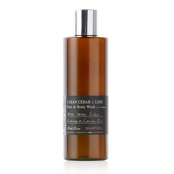 Bath House - Cuban Cedar & Lime Hair & Body Wash 260ml