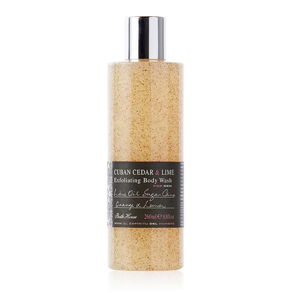 Bath House - Cuban Cedar & Lime Exfoliating Body Wash 260ml