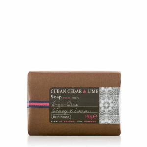 Bath House - Cuban Cedar & Lime Soap Bar 150g