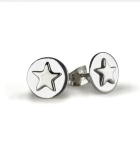 Tales from the Earth - silver lucky star earrings