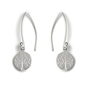 Tales from the Earth - silver tree of life earrings