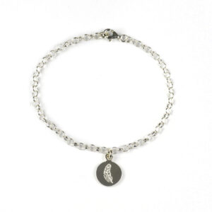 Tales from the Earth - silver guardian angel feather bracelet