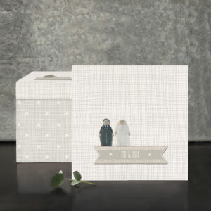 East of India square wooden Mr & Mrs box