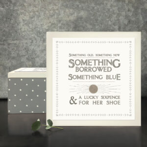 East of India square wooden bride box