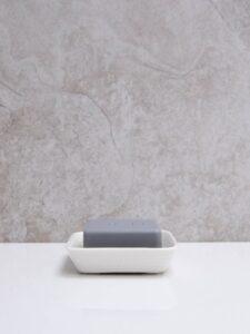 Chalk Porcelain Soap Dish