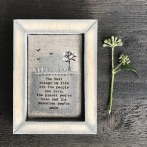 East of India Embroidered Box Frame