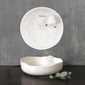 East of India Ceramic Dog Dish