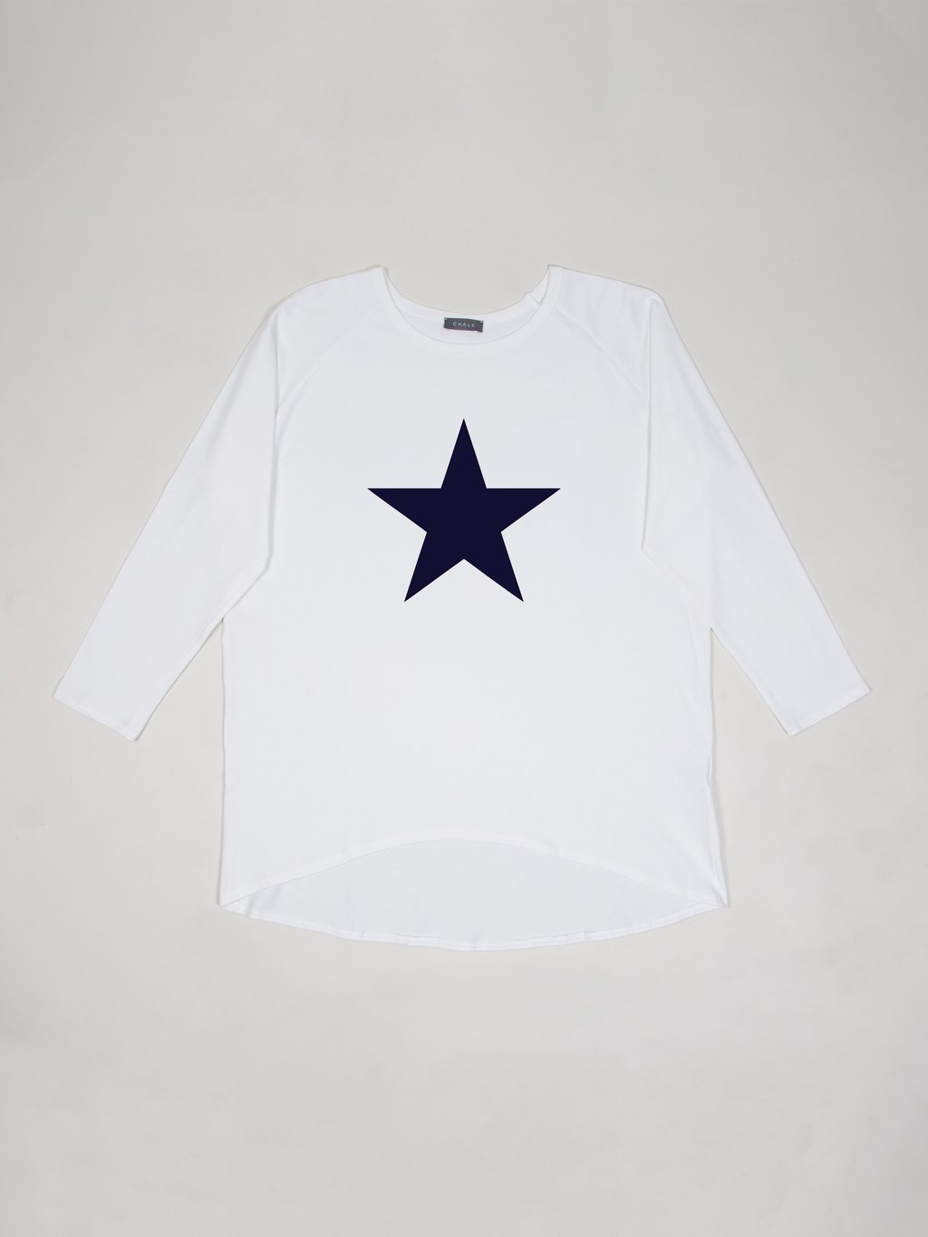 Chalk Robyn Top White with Navy Star