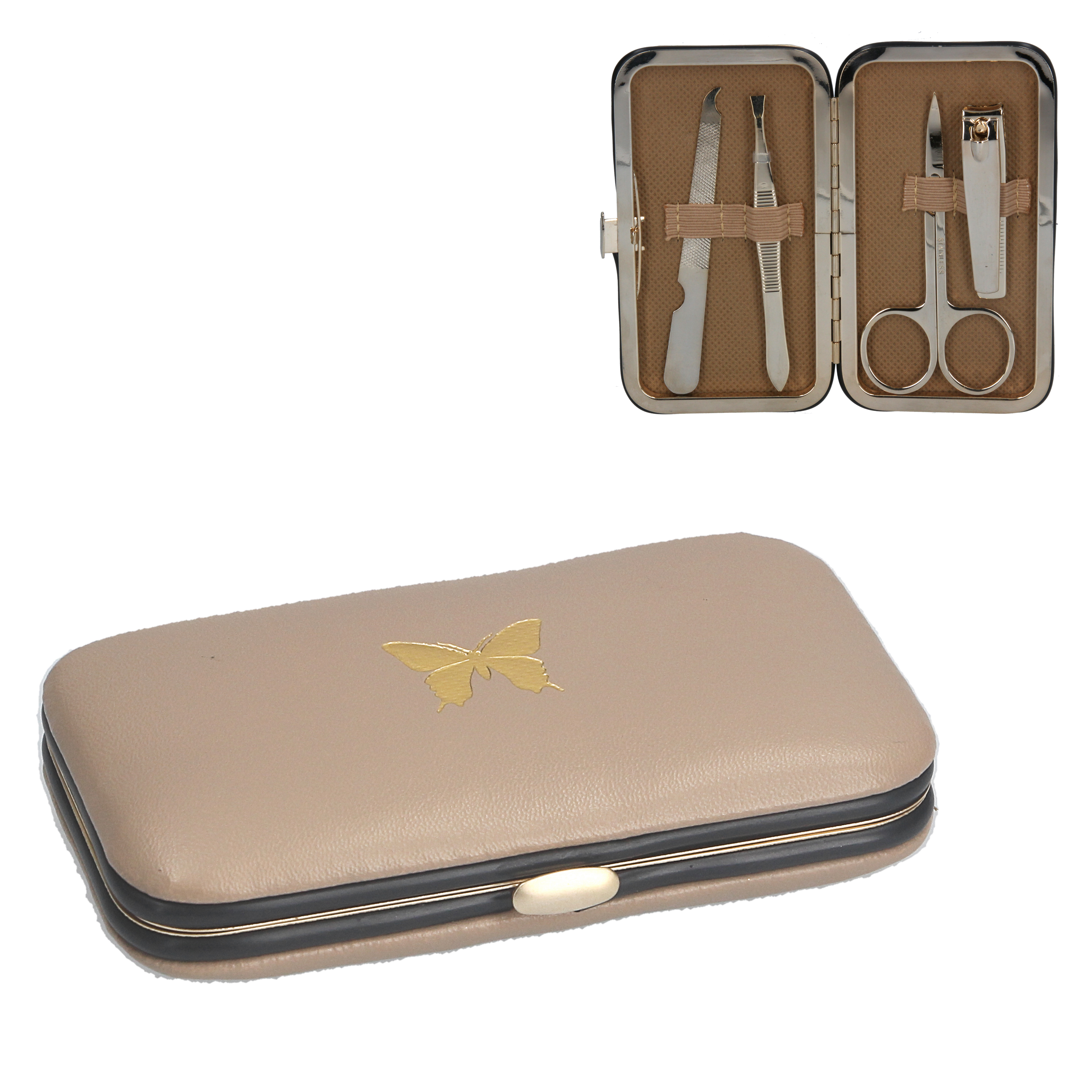 Gisela Graham Gold Butterfly Manicure Set